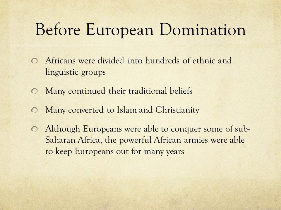 Before European Domination