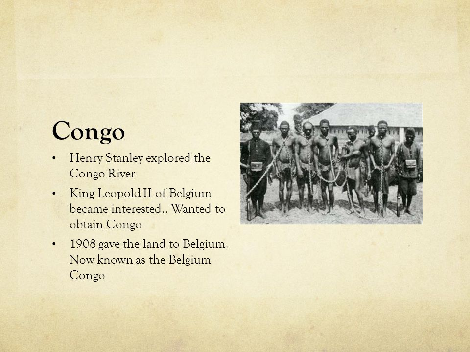 Congo Henry Stanley explored the Congo River