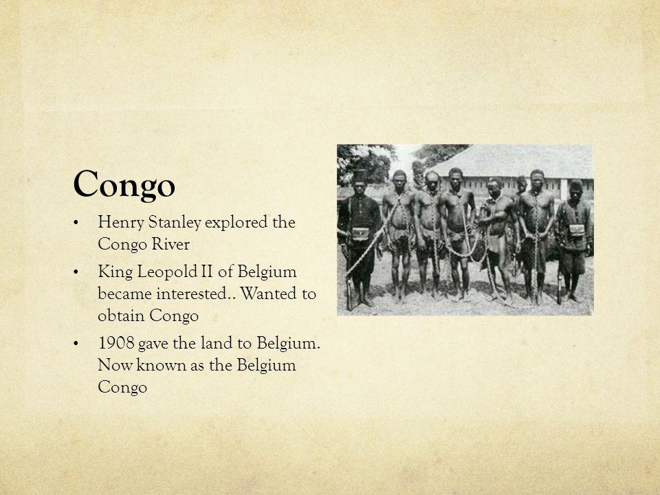 Congo Henry Stanley explored the Congo River