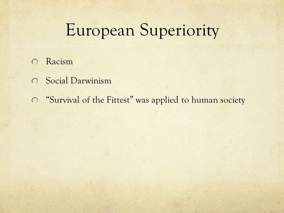 European Superiority Racism Social Darwinism
