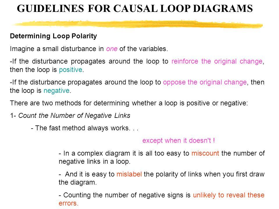 GUIDELINES FOR CAUSAL LOOP DIAGRAMS
