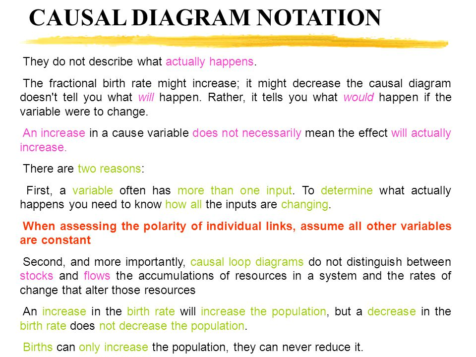 CAUSAL DIAGRAM NOTATION