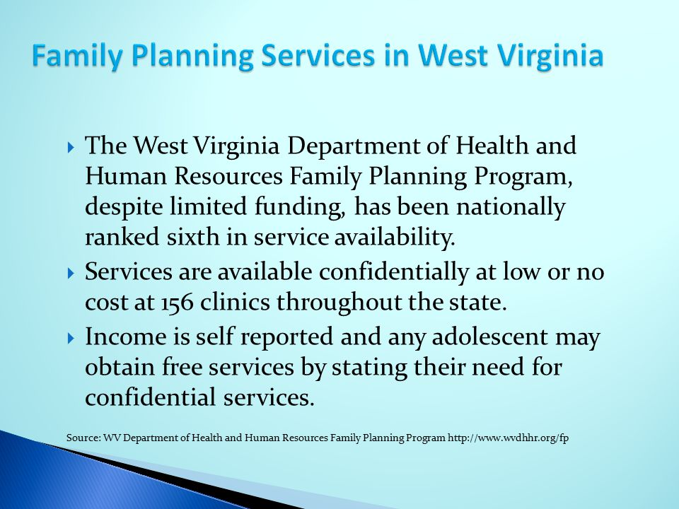 Family Planning Services in West Virginia