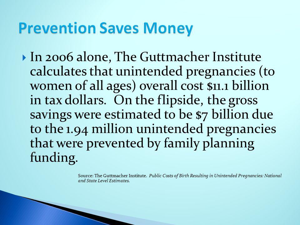 Prevention Saves Money