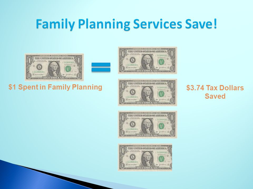 Family Planning Services Save!