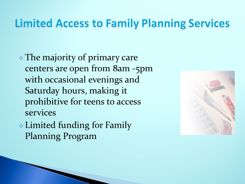 Limited Access to Family Planning Services