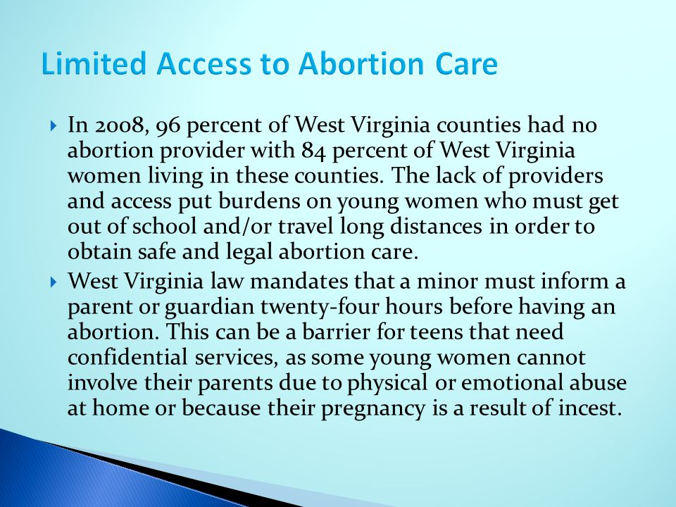 Limited Access to Abortion Care