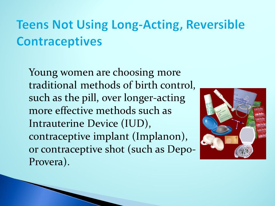 Teens Not Using Long-Acting, Reversible Contraceptives