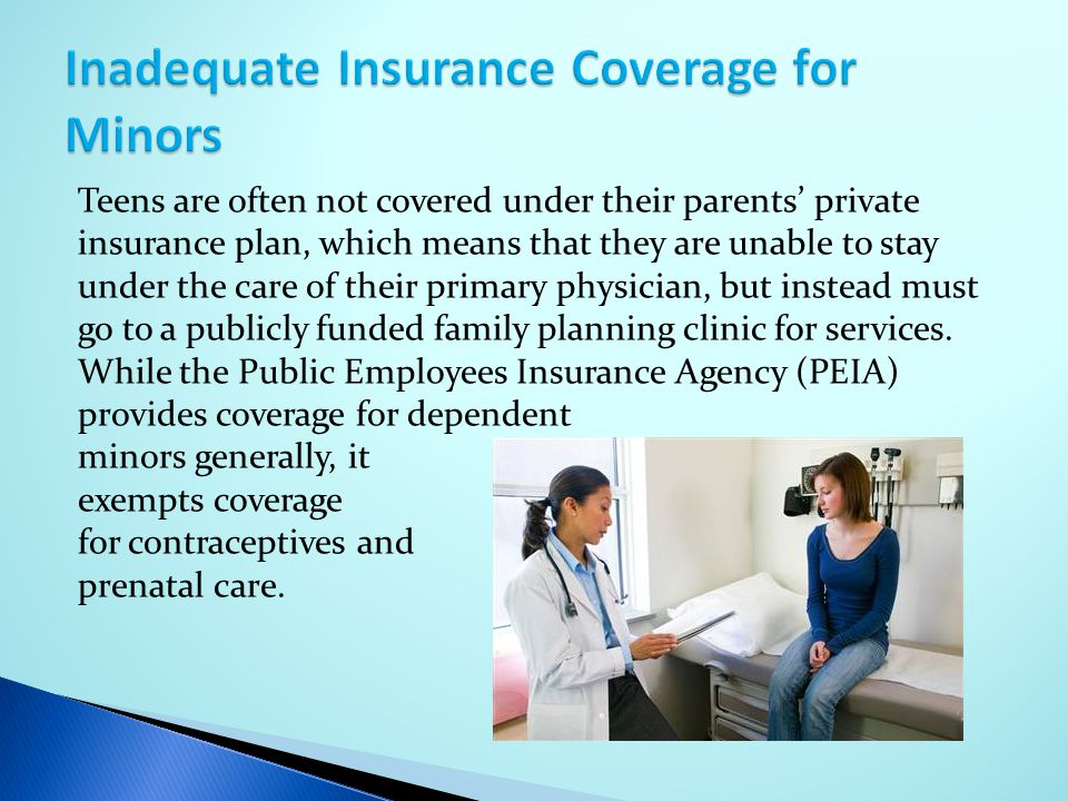 Inadequate Insurance Coverage for Minors