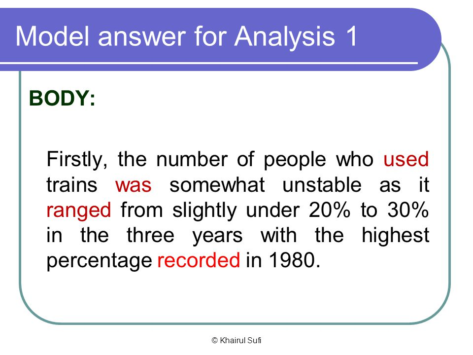 Model answer for Analysis 1