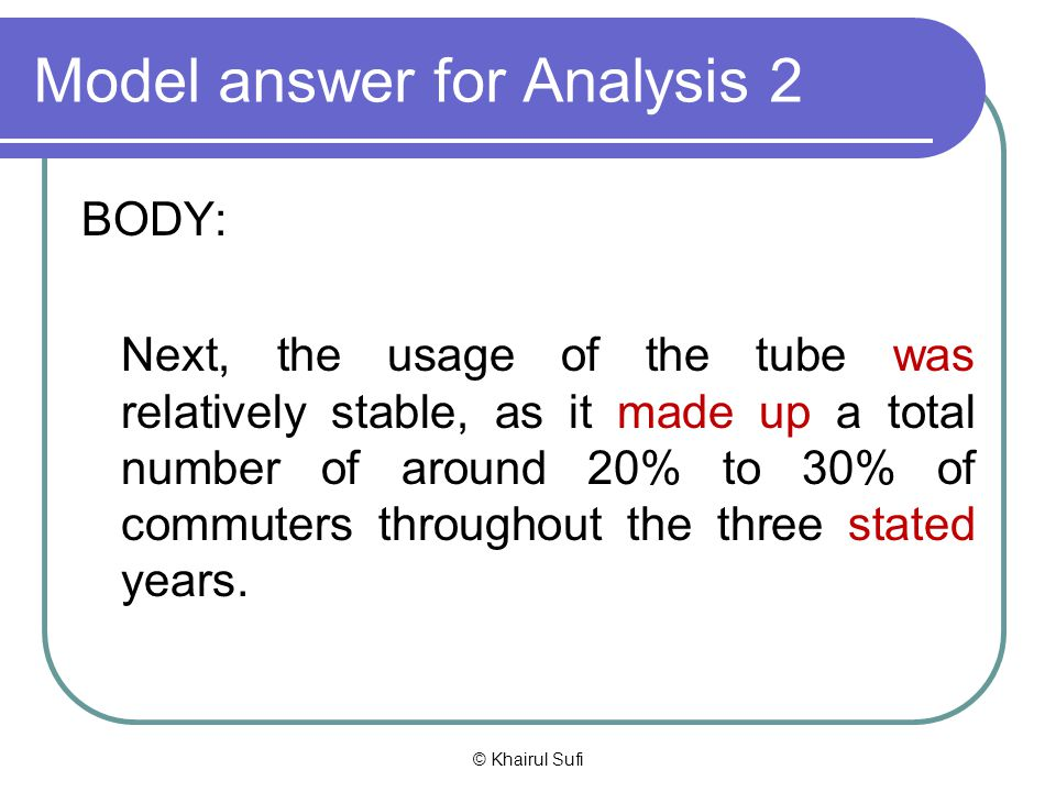 Model answer for Analysis 2