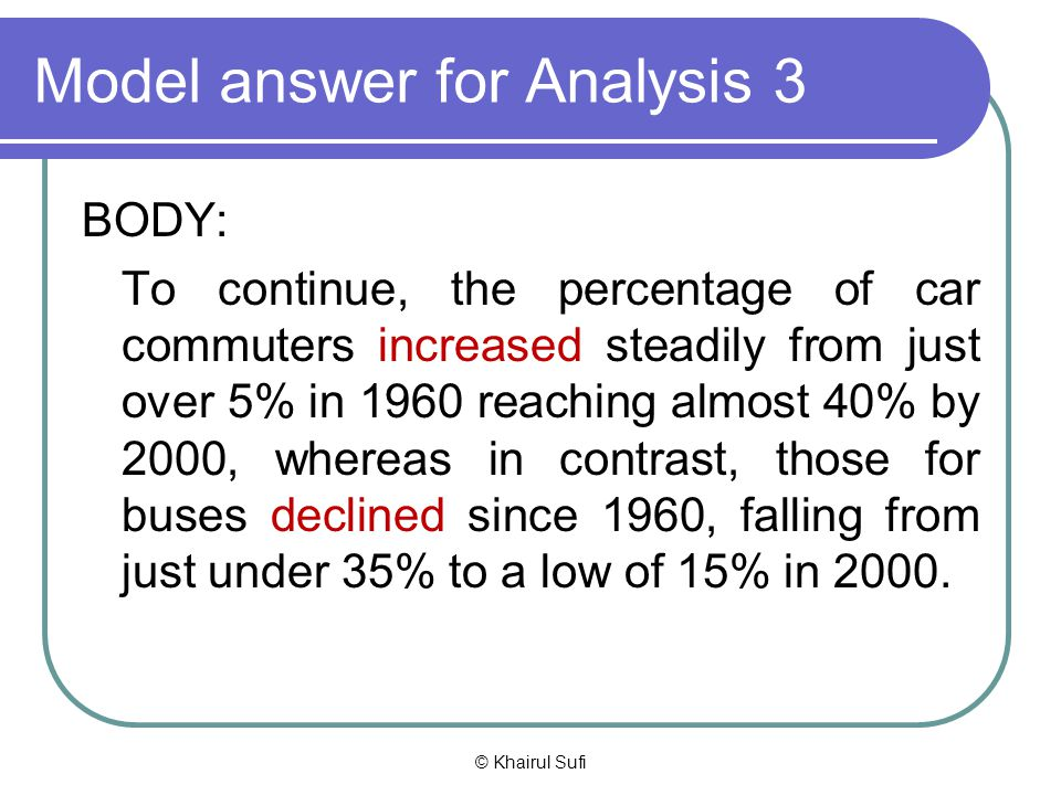 Model answer for Analysis 3