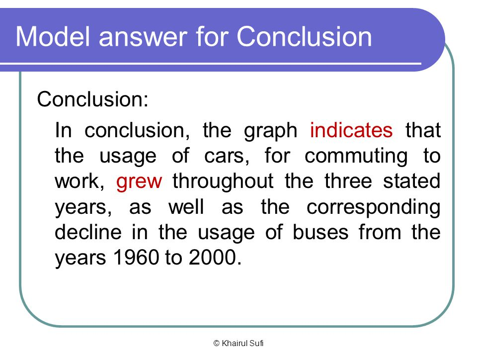 Model answer for Conclusion