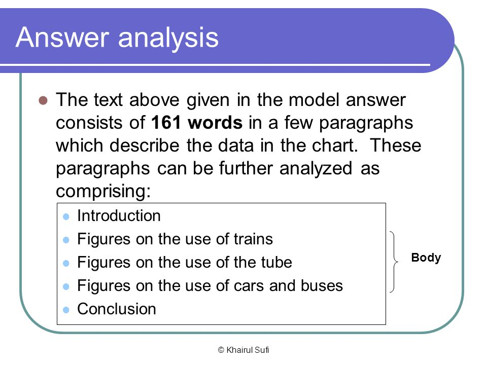 Answer analysis
