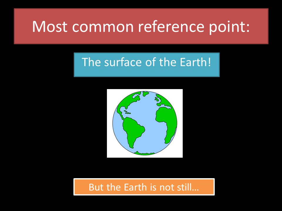 Most common reference point: