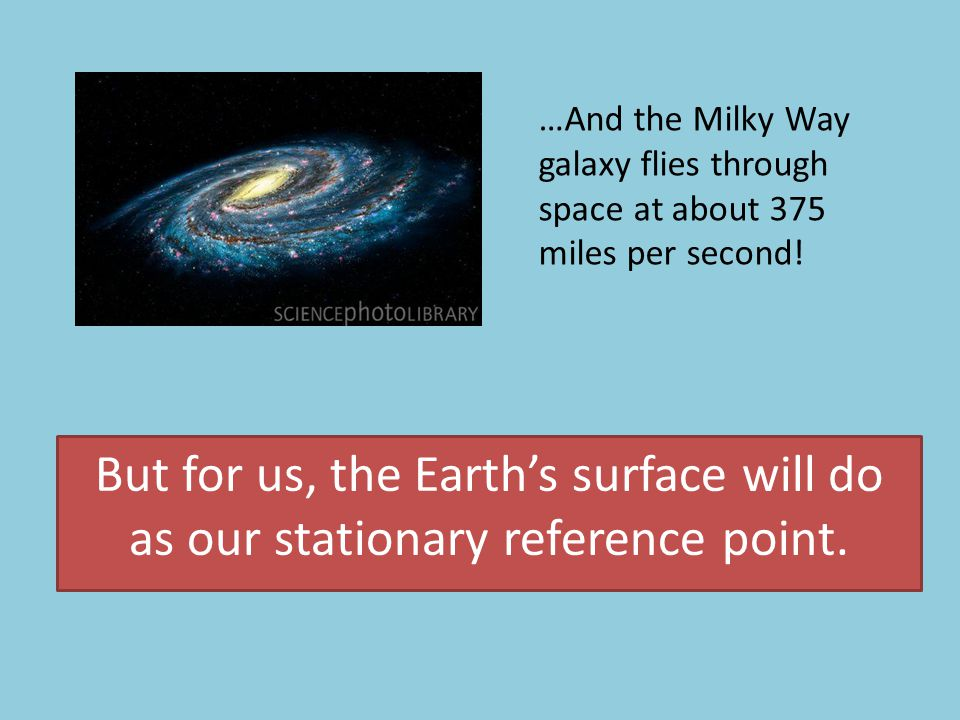 …And the Milky Way galaxy flies through space at about 375 miles per second!