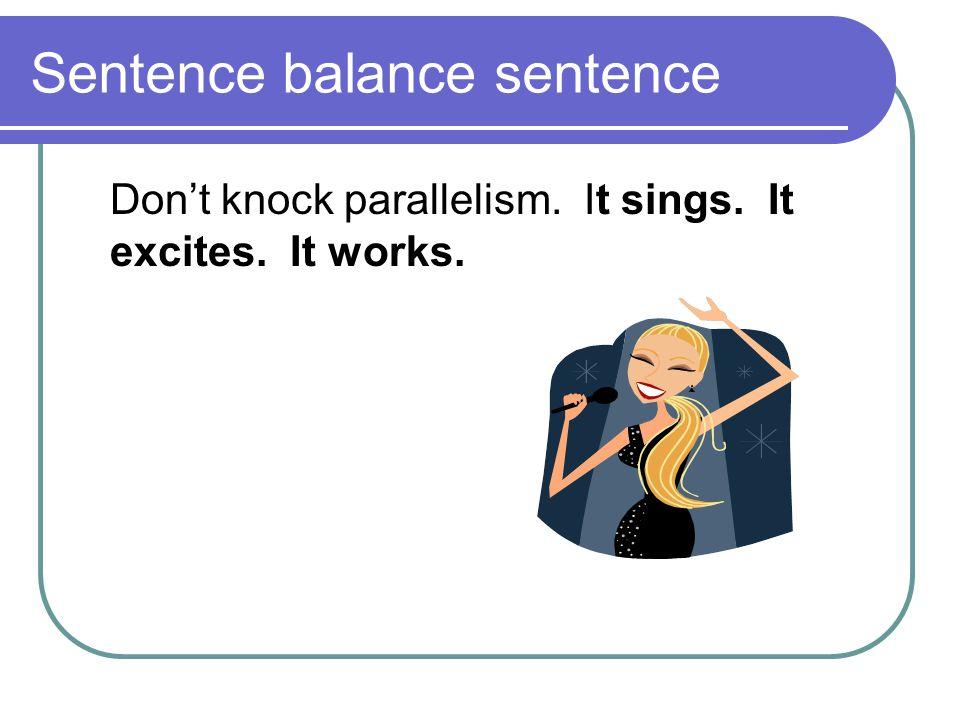 Sentence balance sentence