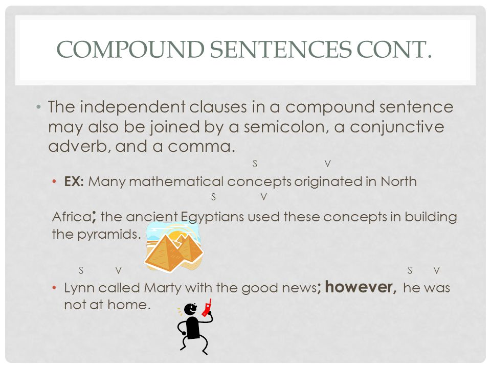 Compound Sentences cont.