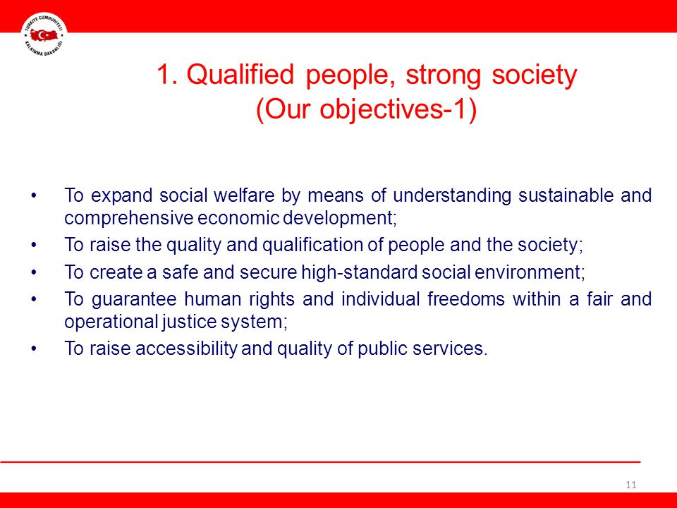 1. Qualified people, strong society (Our objectives-1)