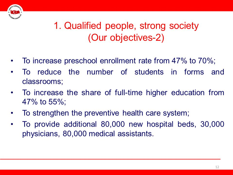 1. Qualified people, strong society (Our objectives-2)