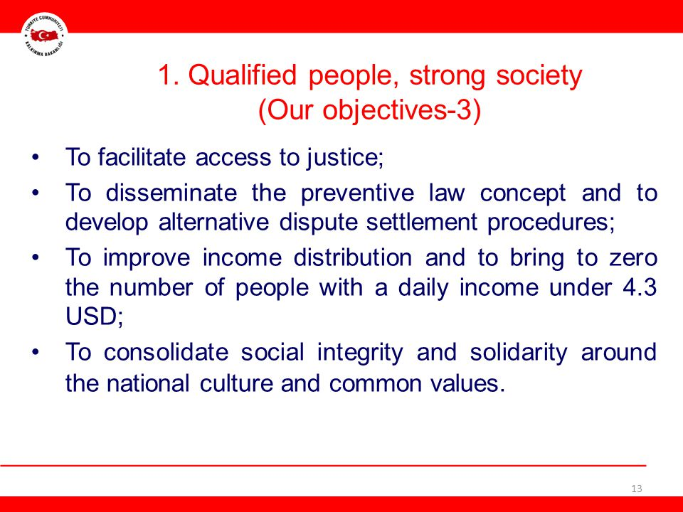 1. Qualified people, strong society (Our objectives-3)