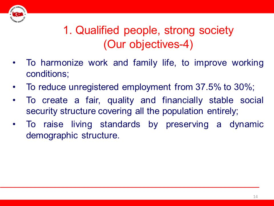 1. Qualified people, strong society (Our objectives-4)