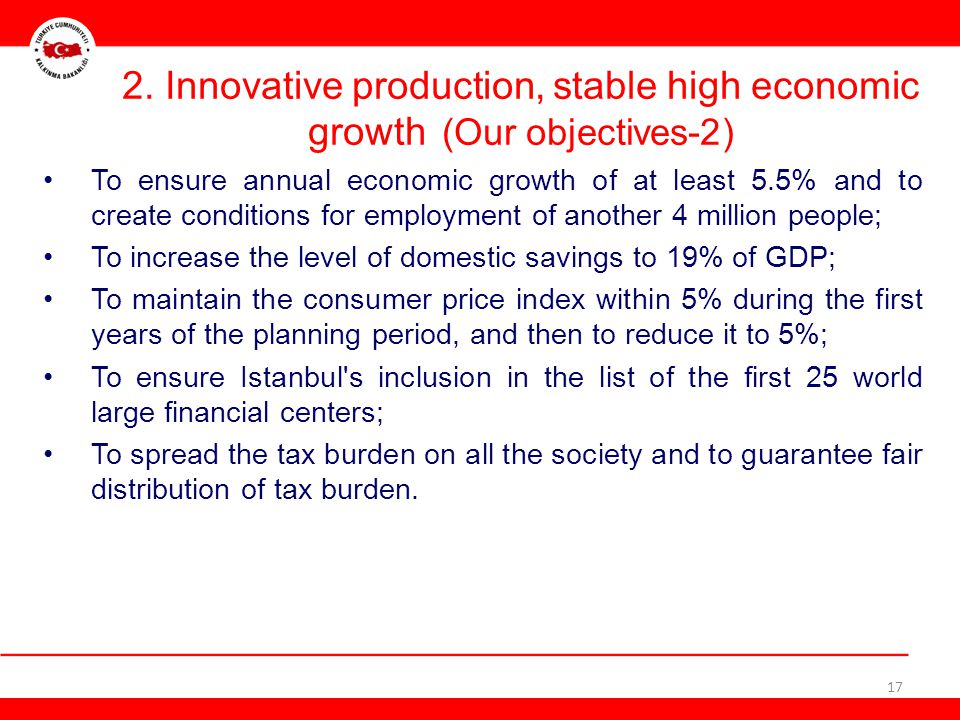 2. Innovative production, stable high economic growth (Our objectives-2)