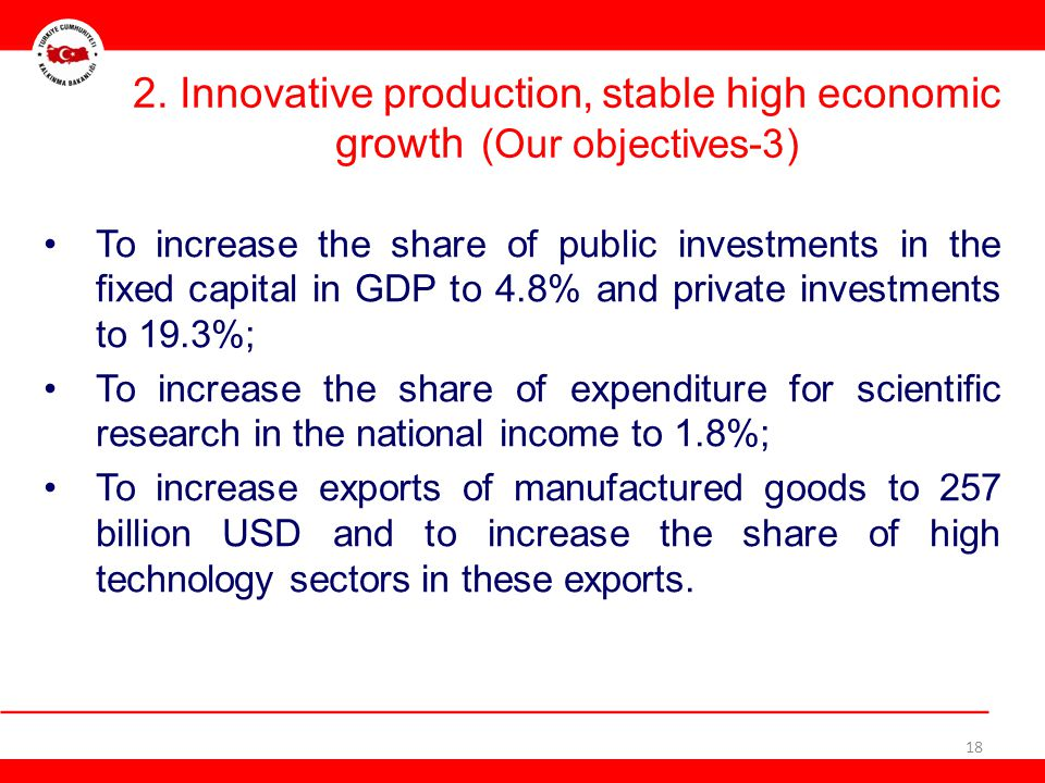 2. Innovative production, stable high economic growth (Our objectives-3)