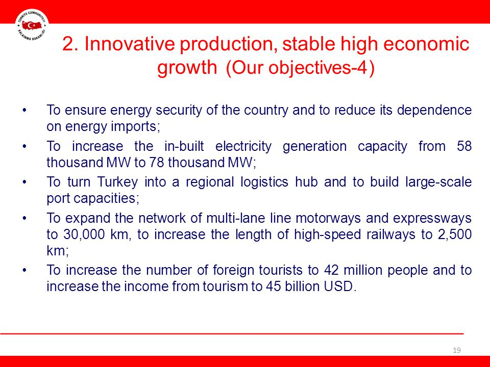 2. Innovative production, stable high economic growth (Our objectives-4)