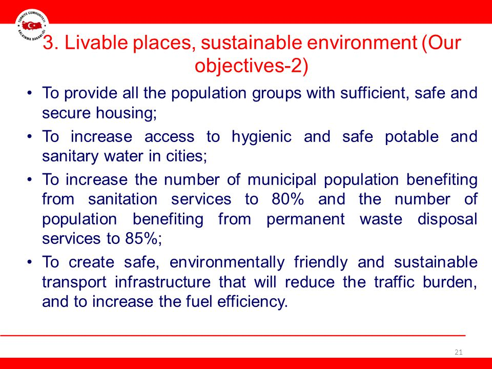 3. Livable places, sustainable environment (Our objectives-2)