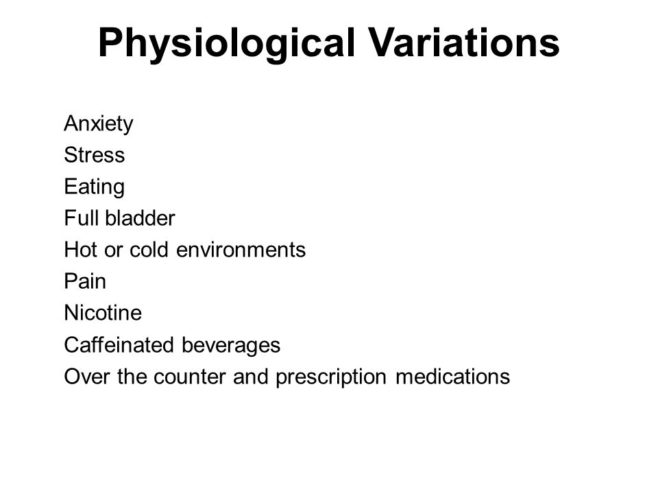 Physiological Variations