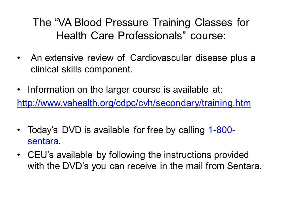 Virginia BP Measurement Course (VA BPMC)