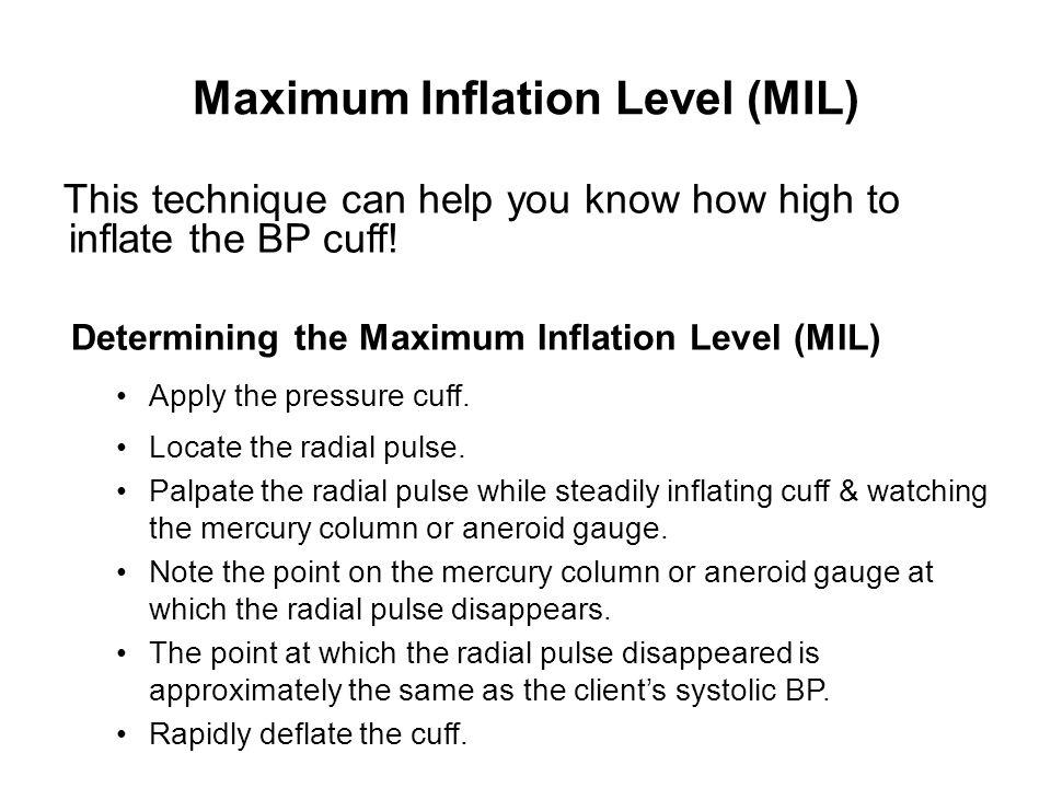 Maximum Inflation Level (MIL)