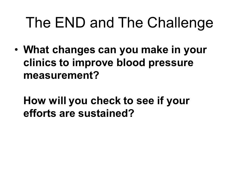 The END and The Challenge