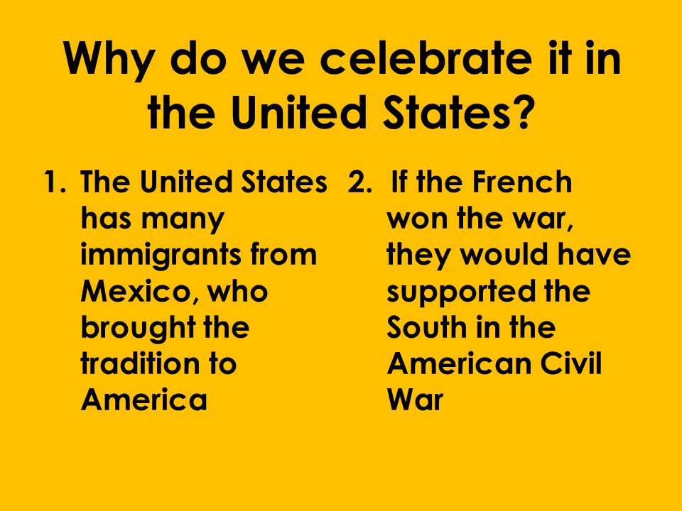 Why do we celebrate it in the United States