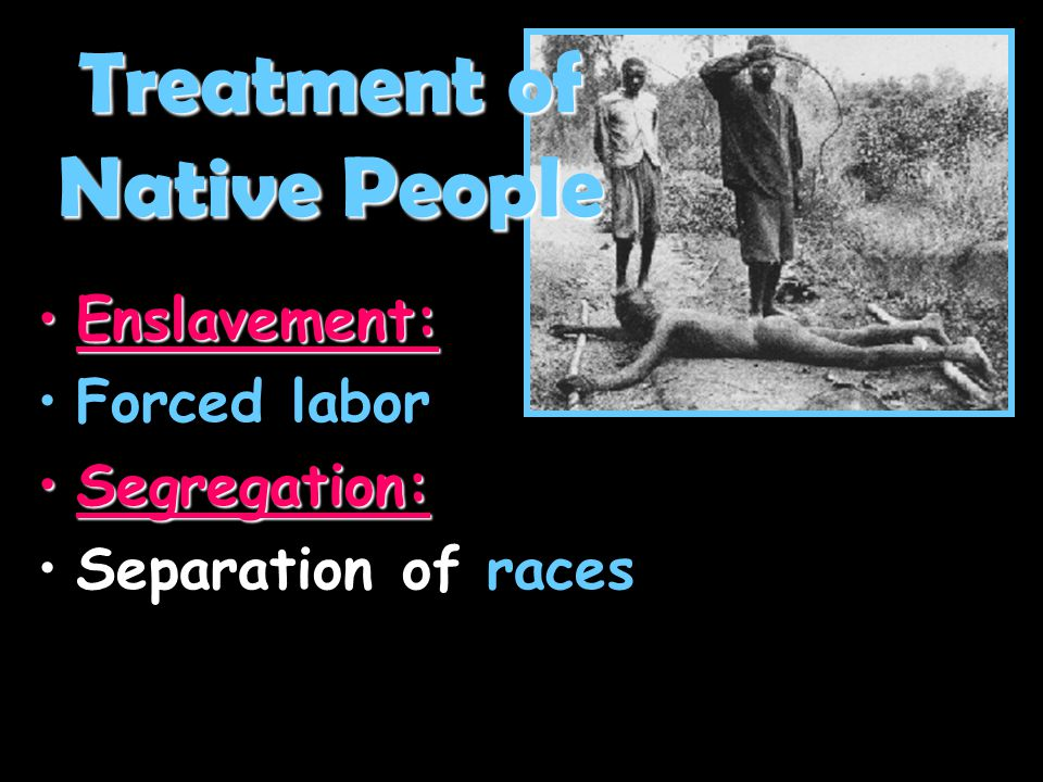 Treatment of Native People