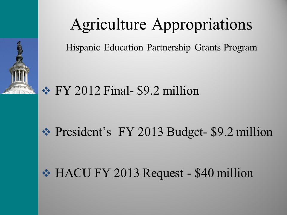 Agriculture Appropriations Hispanic Education Partnership Grants Program