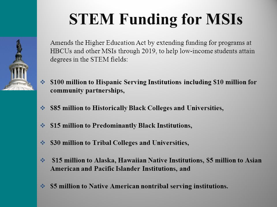 STEM Funding for MSIs