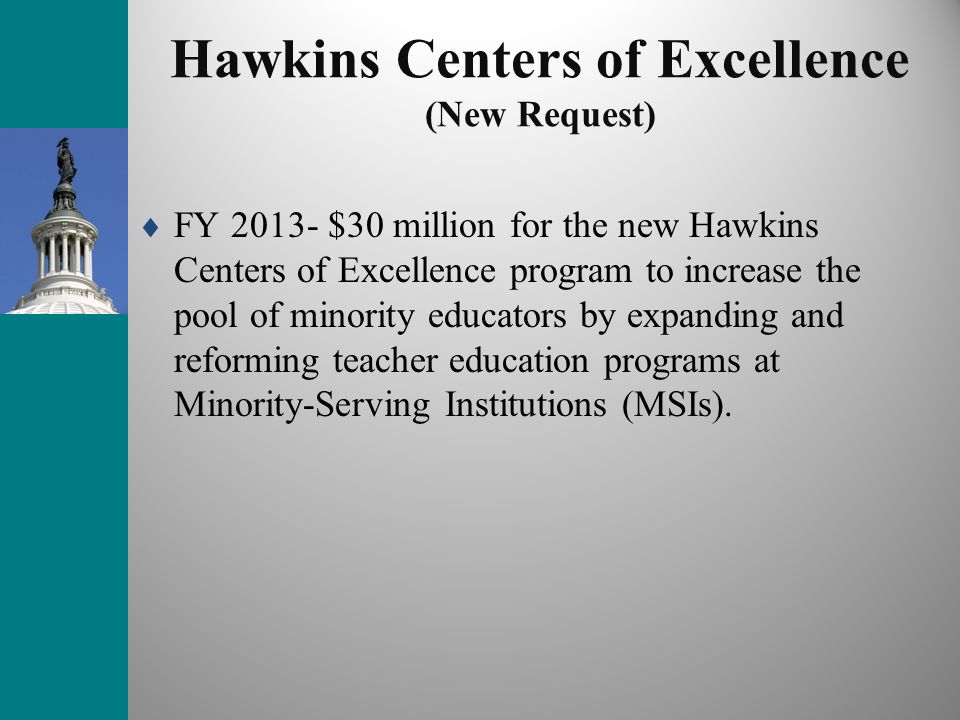 Hawkins Centers of Excellence (New Request)