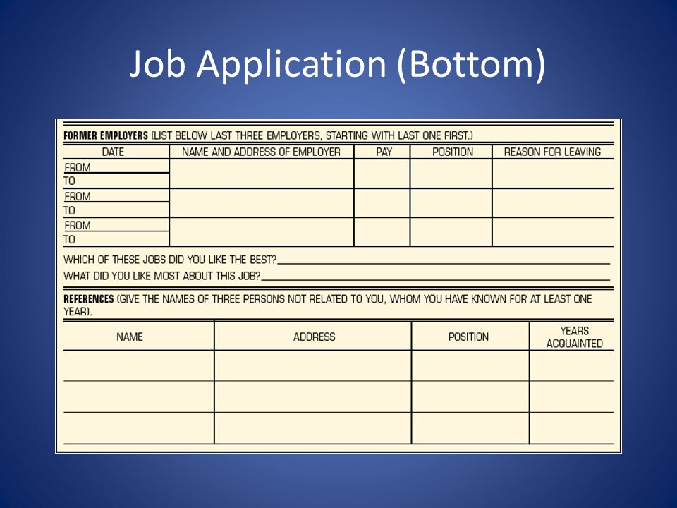 Job Application (Bottom)