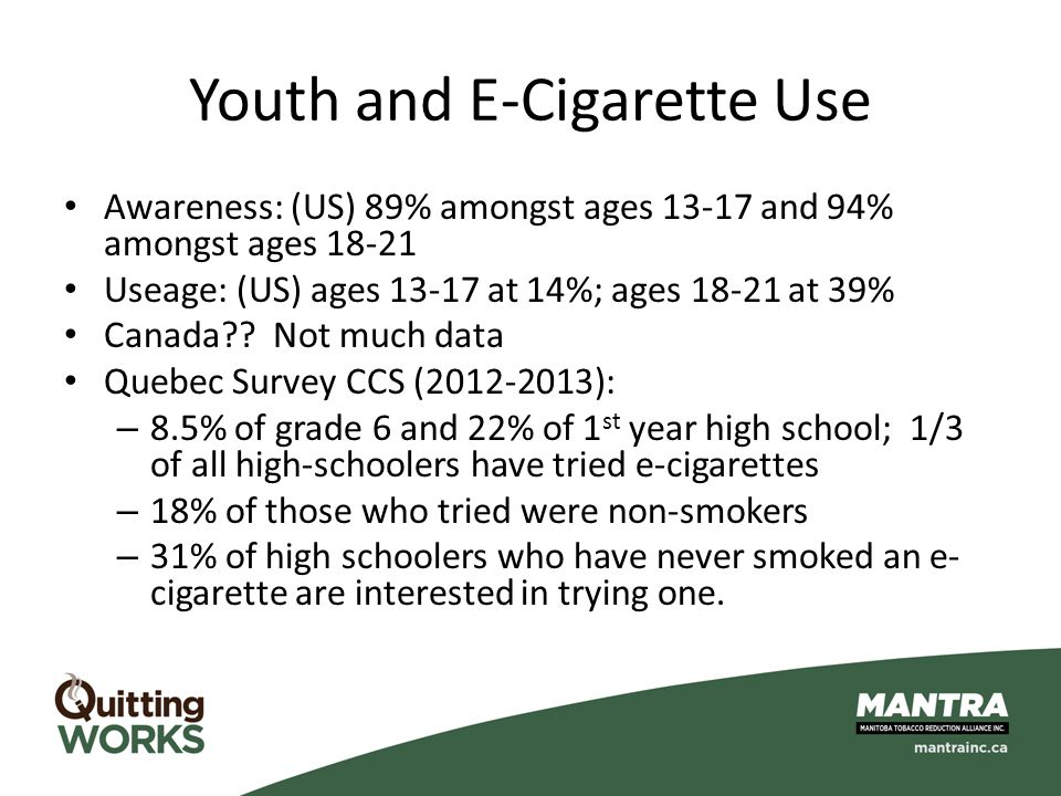 Youth and E-Cigarette Use