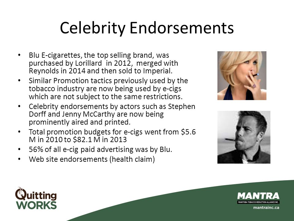 Celebrity Endorsements