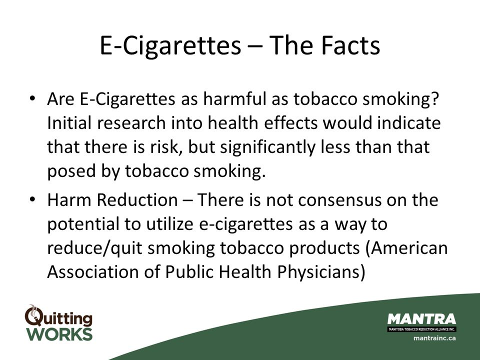 E-Cigarettes – The Facts