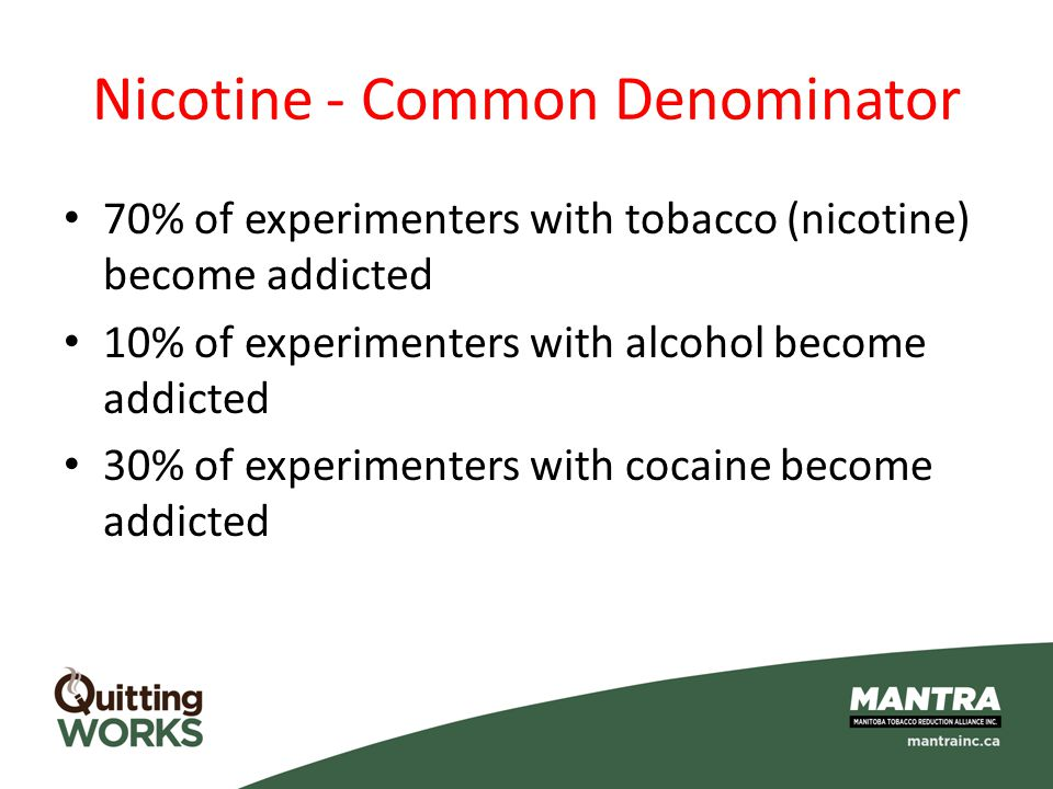 Nicotine - Common Denominator