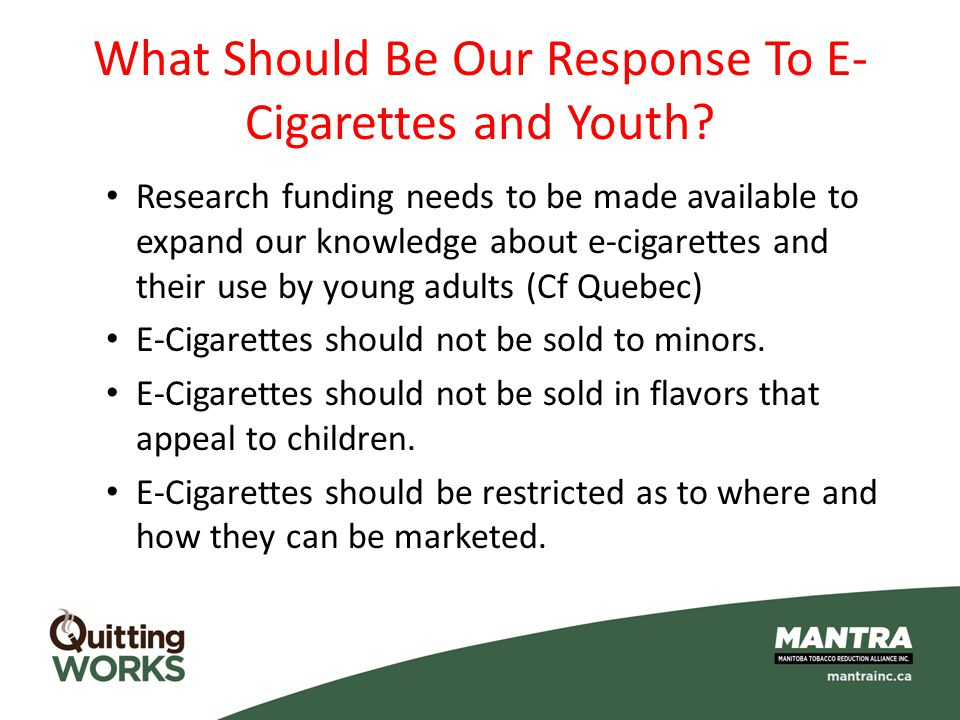 What Should Be Our Response To E-Cigarettes and Youth