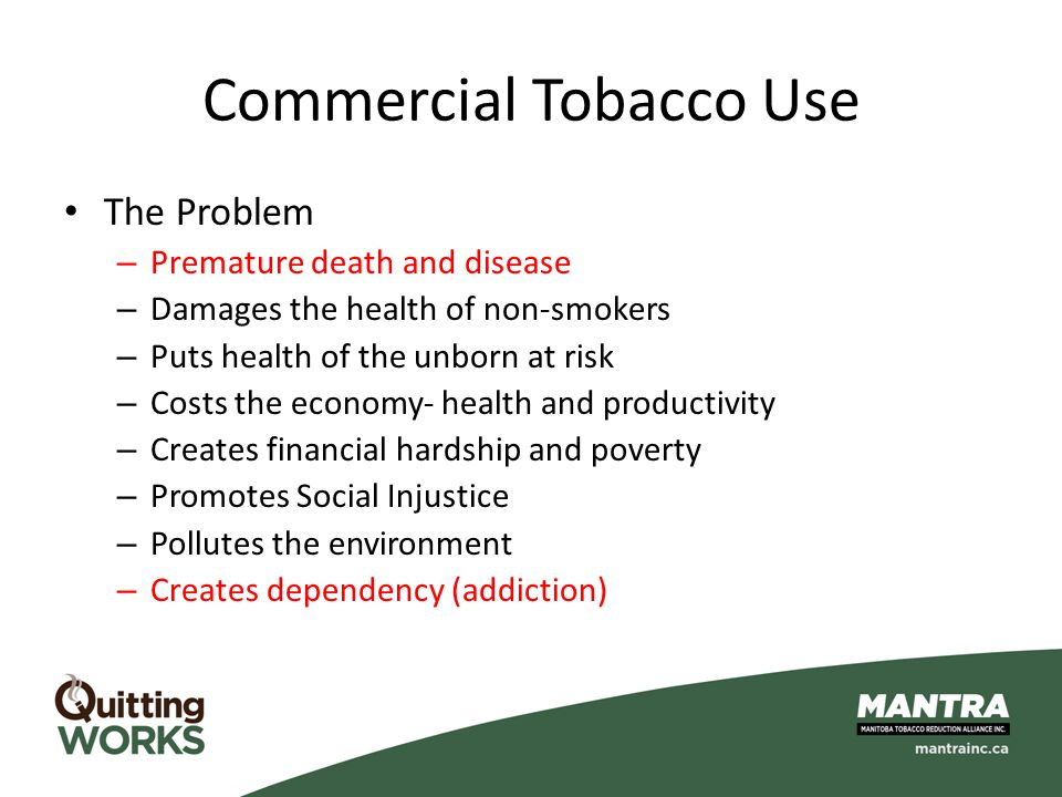 Commercial Tobacco Use