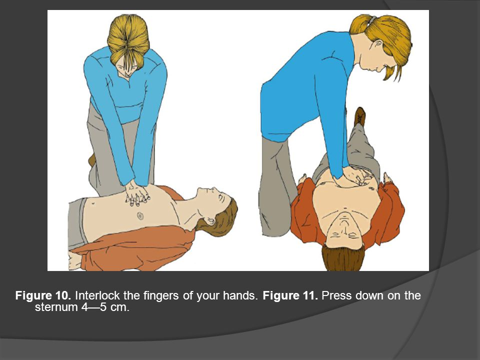 Figure 10. Interlock the fingers of your hands. Figure 11