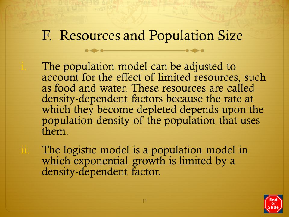F. Resources and Population Size