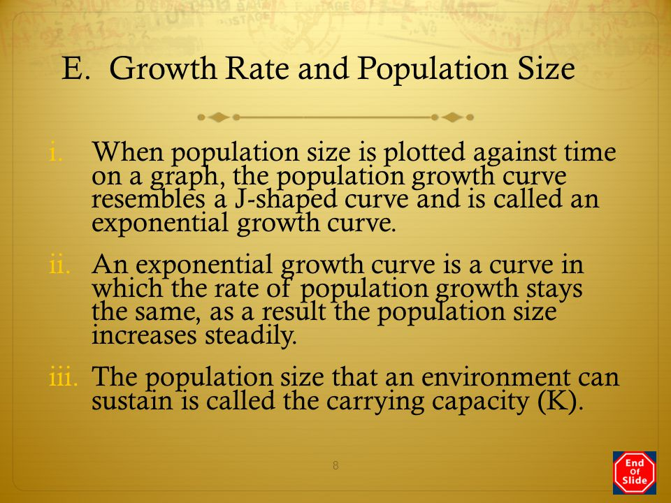 E. Growth Rate and Population Size