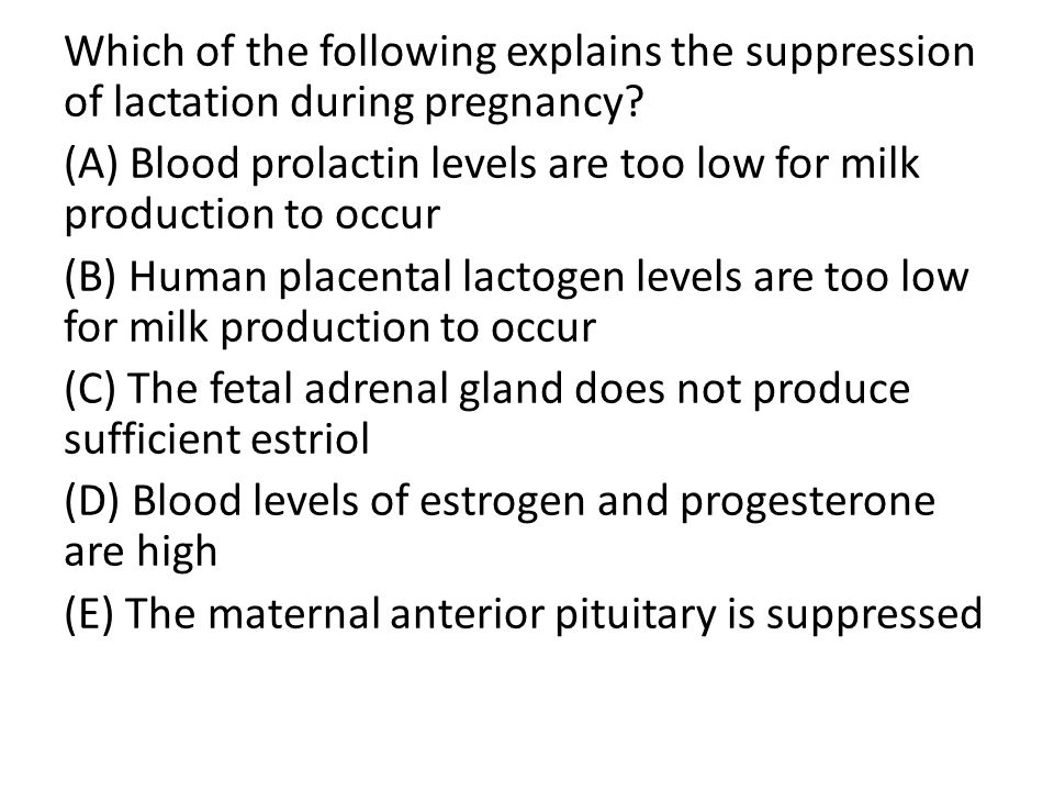 Which of the following explains the suppression of lactation during pregnancy